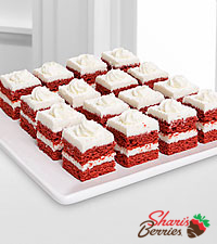 Shari's Berries™ Limited Edition Chocolate Dipped Red Velvet Cake Squares - 15 piece