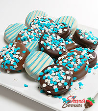 Shari's Berries™ Limited Edition Chocolate Dipped Hanukkah Oreo™ Cookies - 12 pc