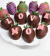 Shari's Berries™ Limited Edition Chocolate Dipped Love Mom Berrygram