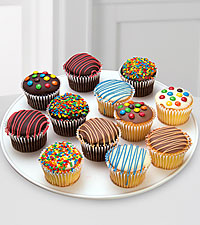 Belgian Chocolate Dipped Birthday Cupcakes