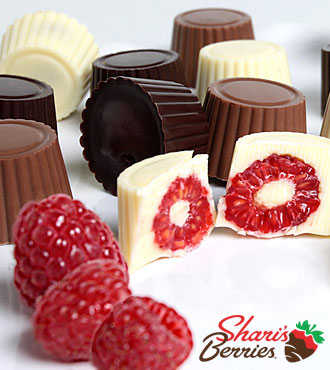 Chocolate Dip Delights™ Real Chocolate Covered Raspberries - 24-piece
