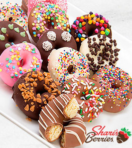 Belgian Chocolate Dipped Mini Donuts