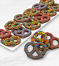 Belgian Chocolate Dipped Birthday Sprinkles Pretzel Twists