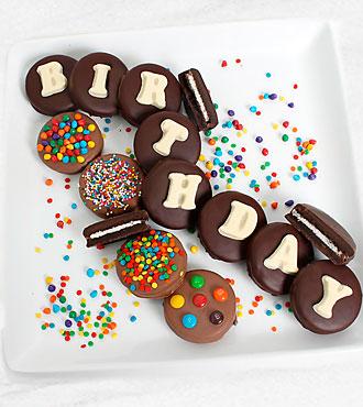 Belgian Chocolate Dipped Birthday Oreo® Gram
