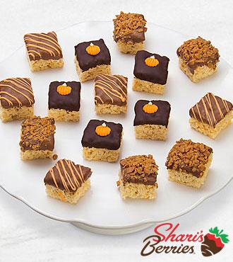 Belgian Chocolate Dipped Harvest Fun Crispy Bites