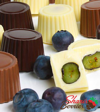 Shari's Berries™ Limited Edition Chocolate Dipped Blueberries - 24-piece
