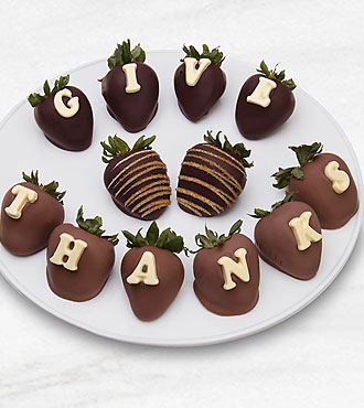 Belgian Chocolate Dipped Give Thanks Berry Gram