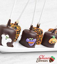 Belgian Chocolate Dipped Halloween Fun Marshmallow Pops