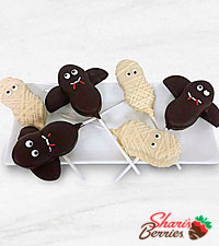 Belgian Chocolate Dipped Haunted Happiness Halloween Nutter Butter Cookie Pops-6