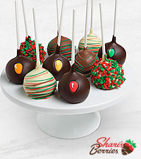 Belgian Chocolate Dipped Holiday Cake Pops