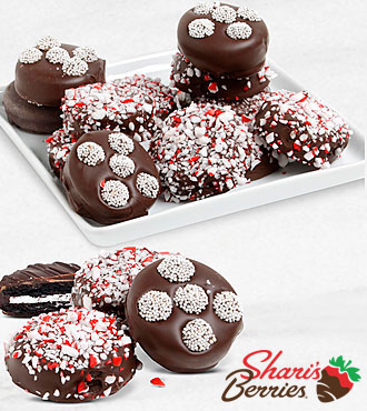 Belgian Chocolate Dipped Holiday Peppermint Oreo® Cookies