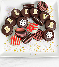 Belgian Chocolate Dipped Believe Holiday Oreo® Cookie Gram