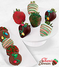 Belgian Chocolated Dipped Holiday Berries and Oreo® Cookie Combo