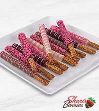 Belgian Chocolate Dipped It's a Girl! Pretzels