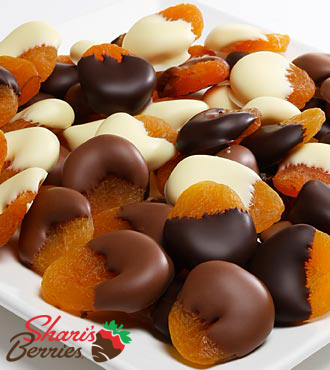 Shari's Berries™ Limited Edition Chocolate Dipped Apricots - 1 pound