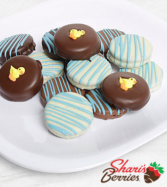 Belgian Chocolate Dipped Baby Boy Celebration Oreo® Cookies