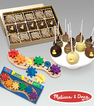 Sweet as Can Be New Baby Toy & Gourmet Gift Set