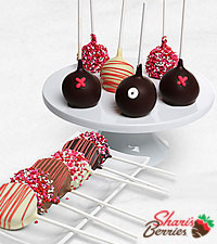 Happy Valentine's Day Belgian Chocolate Covered Cake Pops & Oreo® Cookie Pops