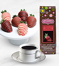 Berry Bliss Valentine's Day Belgian Chocolate Covered Berries & Coffee Combo
