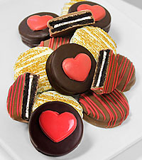 Heart of Gold Belgian Chocolate Oreos Cookies- 12pc