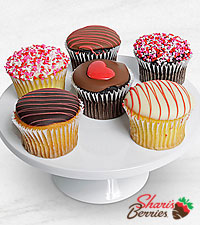 Love Celebration Valentine's Day Belgian Chocolate Covered Cupcakes