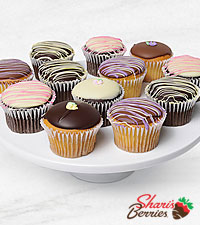 Belgian Chocolate Dipped Mother's Day Cupcakes