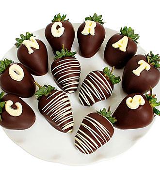 CONGRATS Belgian Chocolate Covered BERRY-GRAM®