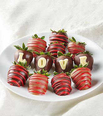 LOVE Belgian Chocolate Covered BERRY-GRAM®