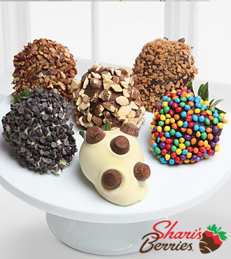 Shari's Berries™ Limited Edition Chocolate Dipped Ultimate Toppings Strawberries - 6-piece