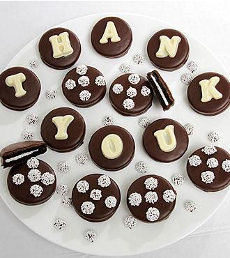 THANK YOU Belgian Chocolate Sandwich Cookies
