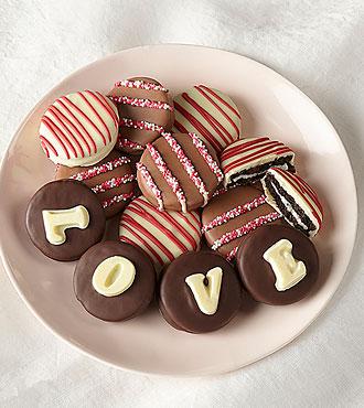 LOVE Belgian Chocolate Covered Sandwich Cookies
