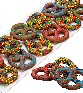 Celebration Belgian Chocolate Covered Pretzel Twists