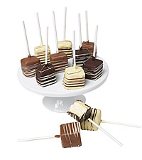 Classic Belgian Chocolate Covered Cheesecake Pops