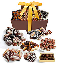 MEGA DELECTABLE BELGIAN CHOCOLATE GIFT BASKET