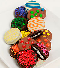 The FTD® Pick Me Up™ Real Chocolate Dipped Rainbow Oreo® Cookies