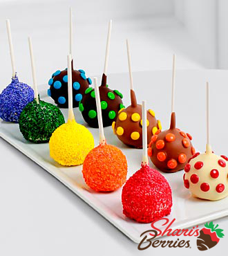 The FTD® Pick Me Up™ Real Chocolate Dipped Rainbow Cake Pops