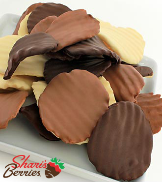 Belgian Chocolate Dipped Potato Chips