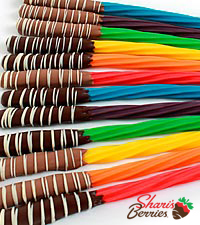 The FTD® Pick Me Up™ Real Chocolate Dipped Rainbow Twizzlers® - 12 Piece