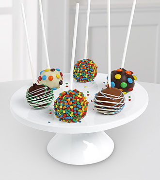 Shari's Berries™ Limited Edition Chocolate Dipped Birthday Celebration Cake Pops - 6-piece