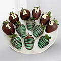 Belgian Chocolate Dipped Thank You Berry Gram-12-piece