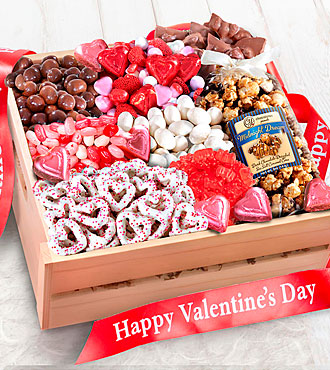 Sweet Them Off Their Feet Valentine's Gourmet Basket - GOOD