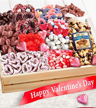 Sweet Them Off Their Feet Valentine's Gourmet Basket - BETTER