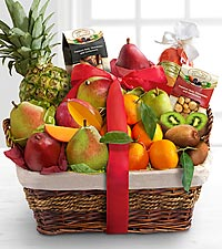 Christmas Bounty Gourmet & Tropical Fruit Basket