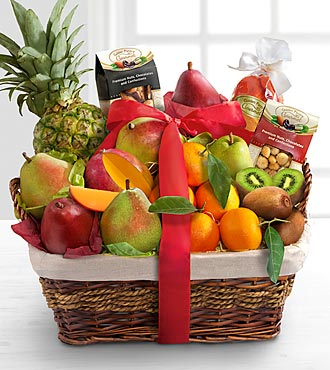 Christmas Bounty Gourmet & Tropical Fruit Basket