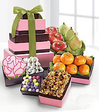 Spring Fruit and Treats Tower
