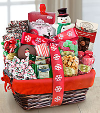 Santa's Sweets Holiday Gourmet Gift Basket