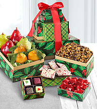Season's Treatings Gourmet Gift Tower