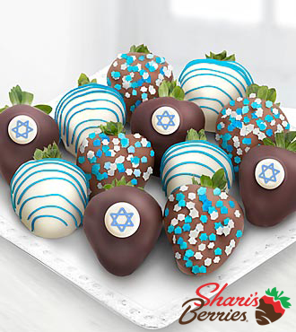 Shari's Berries™ Limited Edition Chocolate Dipped Hanukkah Celebration Berries-12-piece