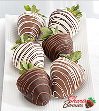 Shari's Berries™ Limited Edition Chocolate Dipped Strawberries - Single Dipped - 6-piece