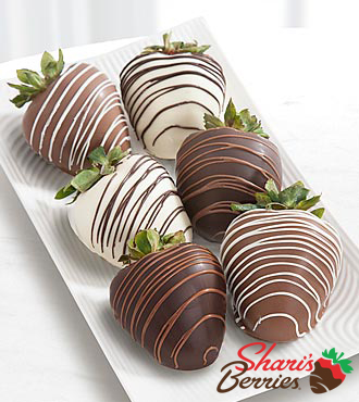 Chocolate Dip Delights™ Classic Real Chocolate Strawberries - Double Dipped - 6-piece